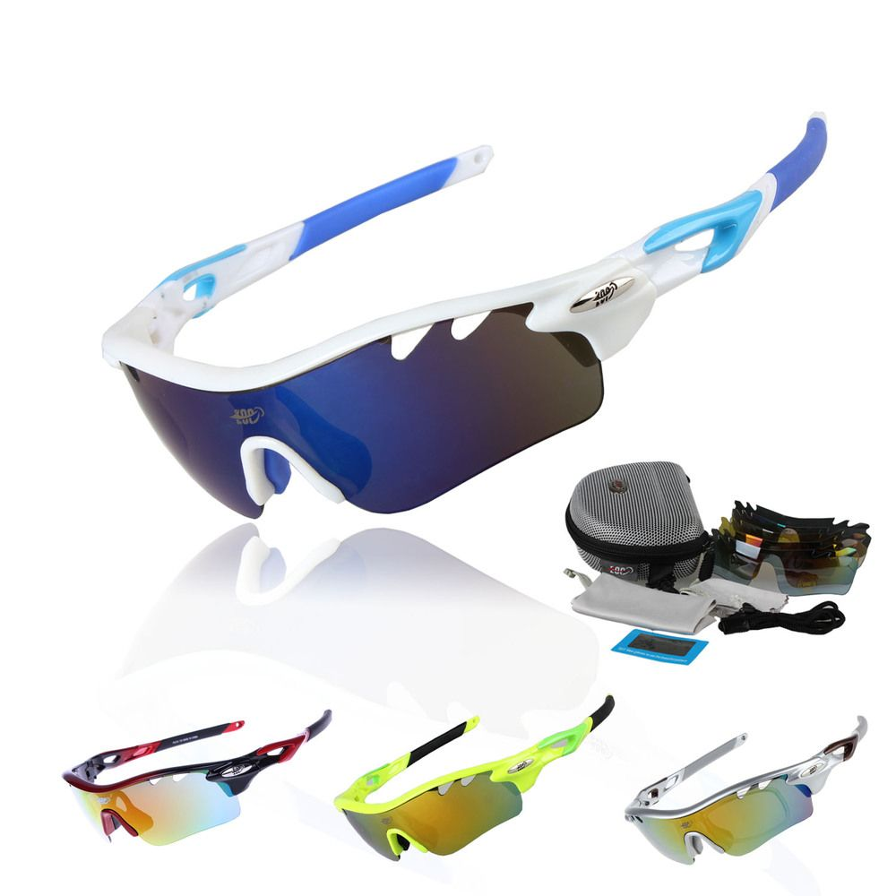 Professional Polarized Cycling Glasses Bike Goggles Fishing Outdoor Sports Sunglasses UV 400 With 5 <font><b>Lens</b></font> TR90 STS801 5 Color