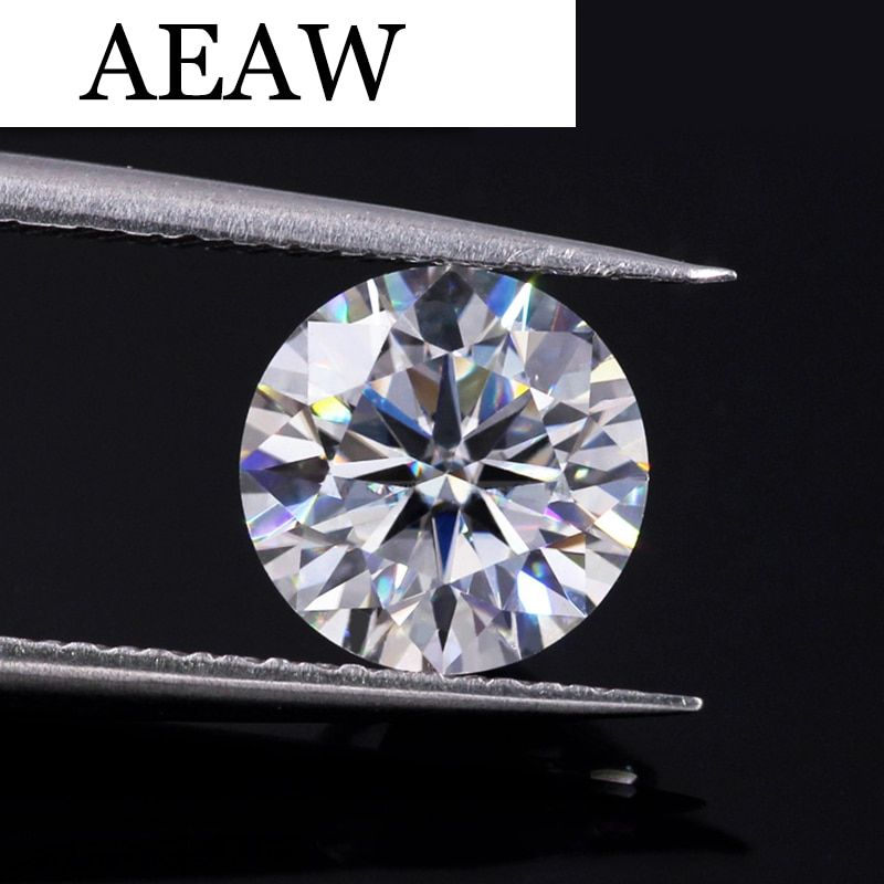 Round Brilliant Cut 1.0ct Carat 6.5mm F Similar to charles colvard Moissanite Loose Stone Excellent Cut Grade Test Positive