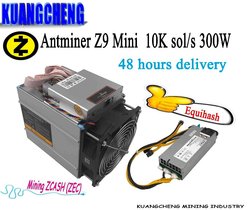 Kuangcheng ZEC BTG miner Antminer Z9 Mini 10k ASIC Equihash ZCASH Miner low power Than Innosilicon A9 mining zcash Antminer S9