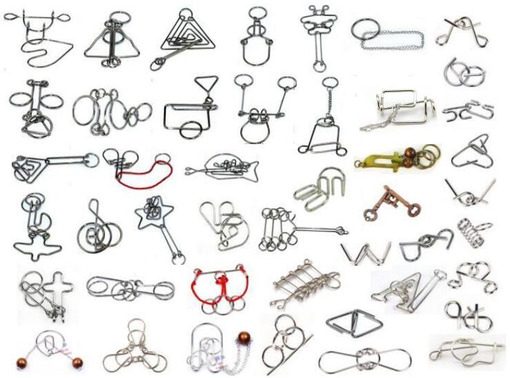 45 шт./компл. IQ Металл головоломку игра-головоломка Игрушечные лошадки для взрослых детей