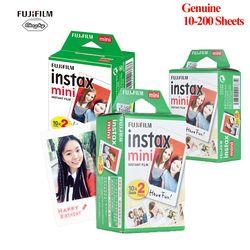 Fujifilm Instax Mini Film 8 9 Film 10-200 Sheet Mini White Instant Photo Paper for Camera Instax Mini7s 50s 90 Photo Paper White