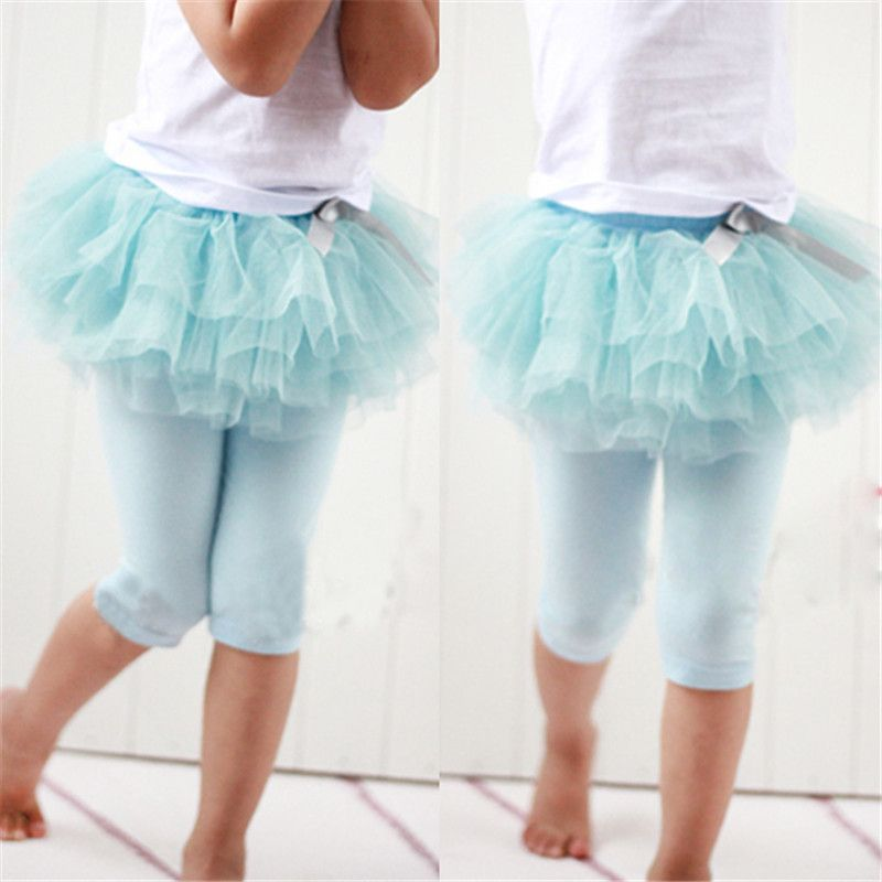 От 0 до 3 лет модная одежда для девочек брюки Леггинсы для женщин теплые штаны из газовой ткани бантом Туту Брюки для девочек Kirt синий/розовый...
