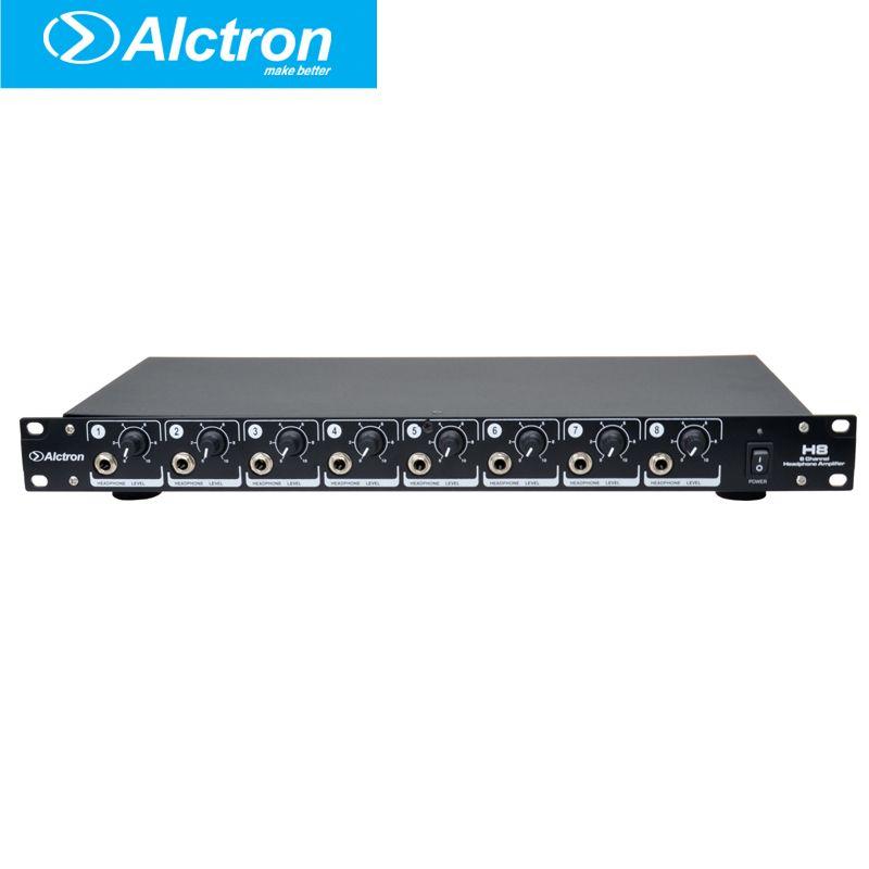 Alctron H8 Professional high-power 8 Channel Headphone Preamplifier, Headphone Amplifier,Ultra-Versatile Headphone Amplifier