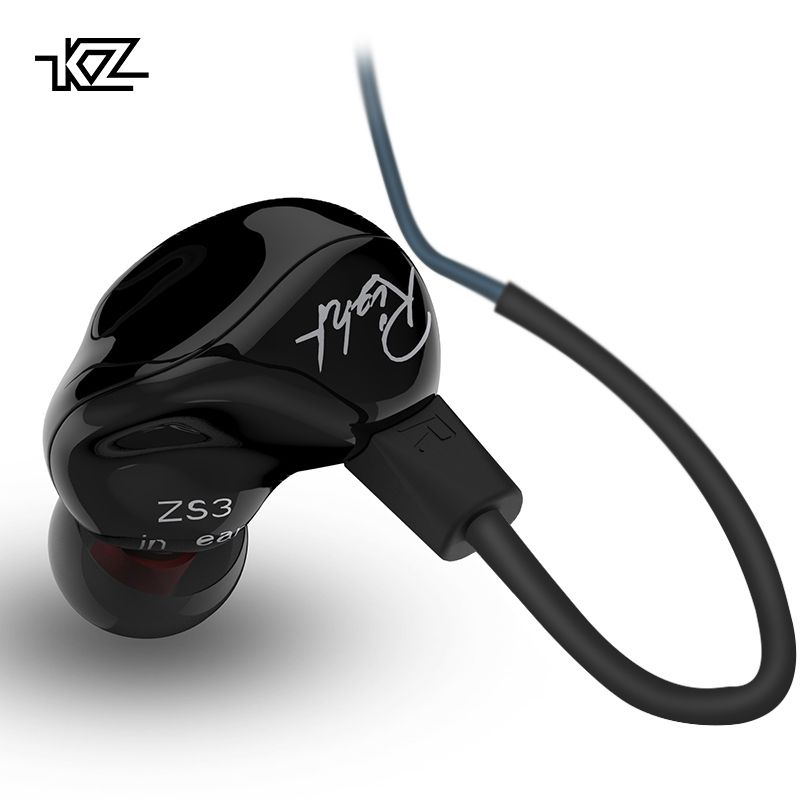 KZ ZS3 Ergonomic Detachable Cable Earphone In Ear Audio Monitors Noise <font><b>Isolating</b></font> HiFi Music Sports Earbuds With Microphone