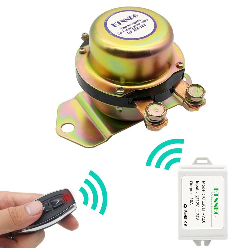 Car Battery Switch Wireless Remote Control Disconnect Latching Relay Electromagnetic Solenoid Valve Terminal Master Kill System