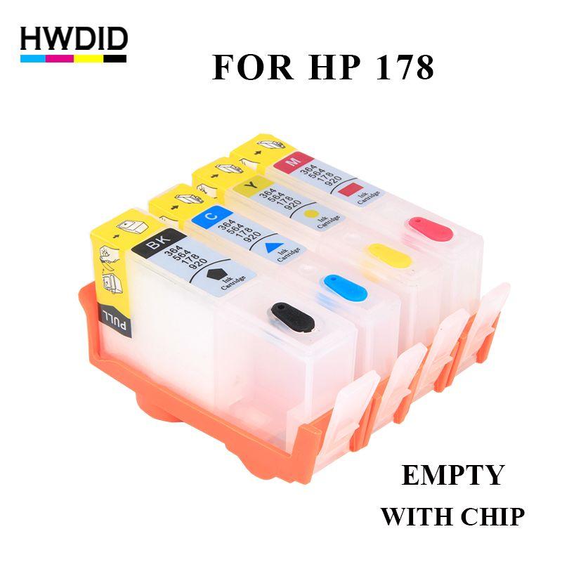 VIDE 178 Rechargeable Cartouche D'encre Pour HP 178 Photosmart C5380 C5383 C6383 C6380 D5460 D5463 C309a C309c C310c C309g Imprimantes