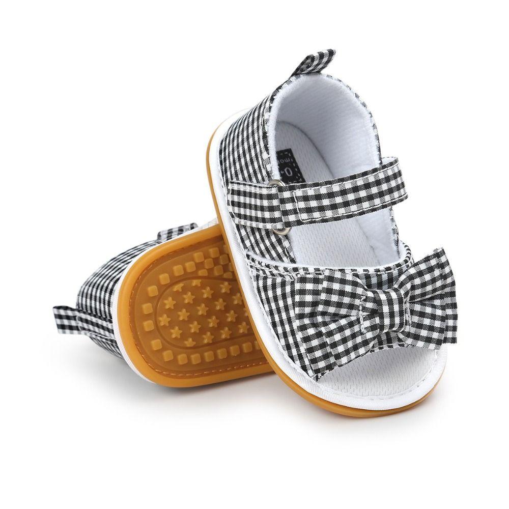 Лето 2017 г. для маленьких девочек Обувь мягкие детские лук для малышей Bebe Обувь детская обувь летние Обувь Повседневное лук Обувь для малышей