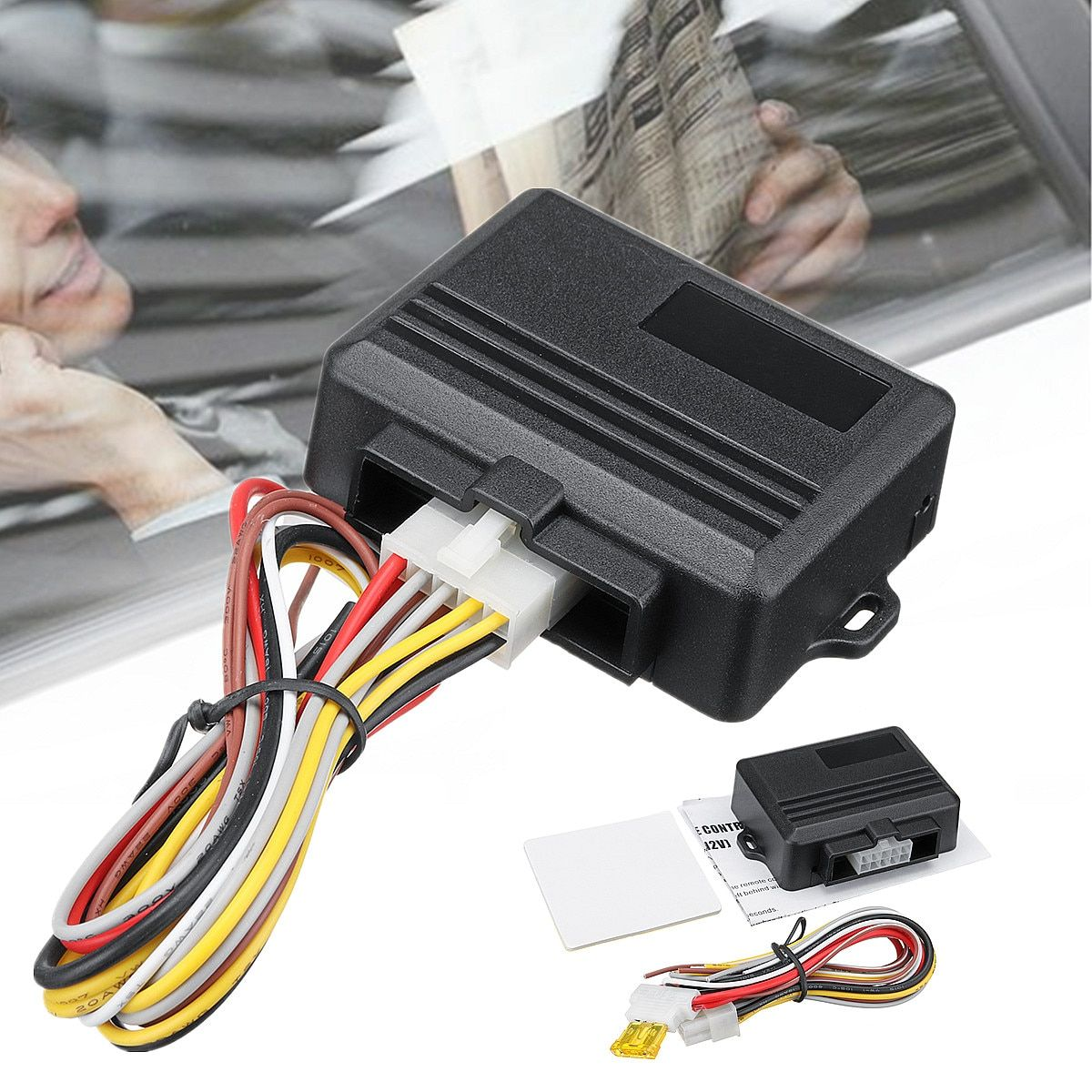 ABS 12V Automatic Universal 2-door Car Window Closer Module Auto Security System Kit Set 8s Lifting Time 90x66x26mm Safe
