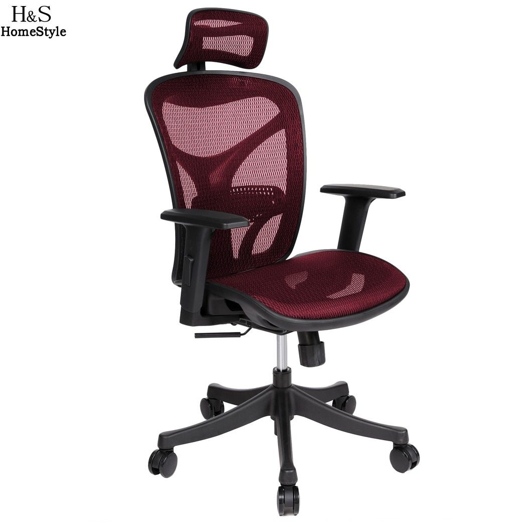 Homdox Offical Chair Adjustable High Mesh Executive Office Computer Desk Ergonomic Chair Lift Swivel Chair N30*