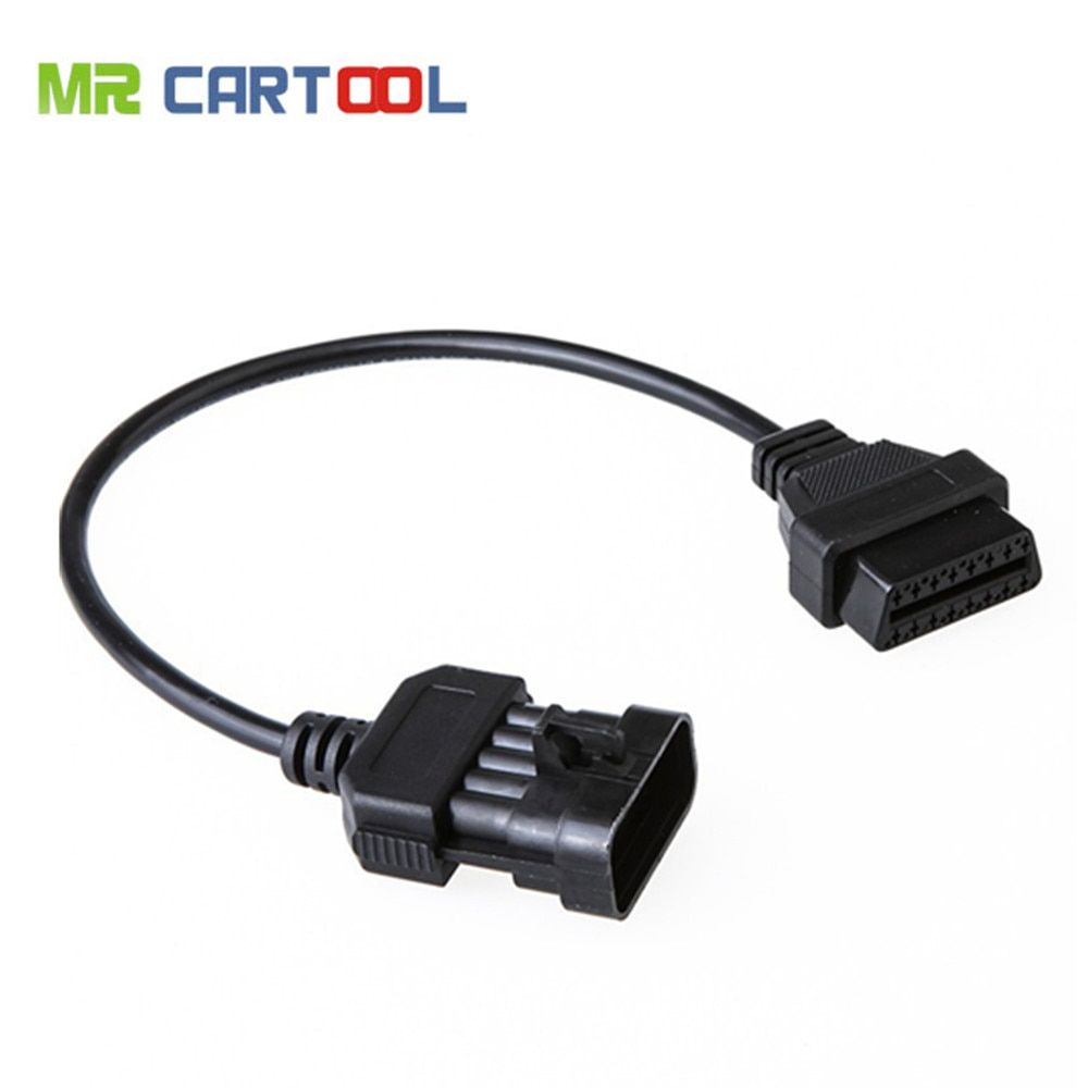 for Opel 10Pin to 16Pin OBD 2 OBD2 Adapter Connector Cable Car Extension Diagnostic tool connector Cable for Opel