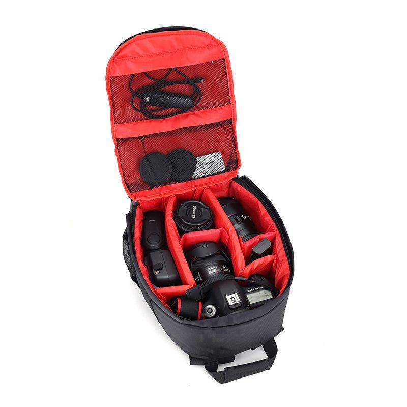 Hot Fashion Waterproof Photo Digital DSLR Camera Bag Brand New Photography Camera Video Bag Small SLR Mochila Camera+Rain Cover
