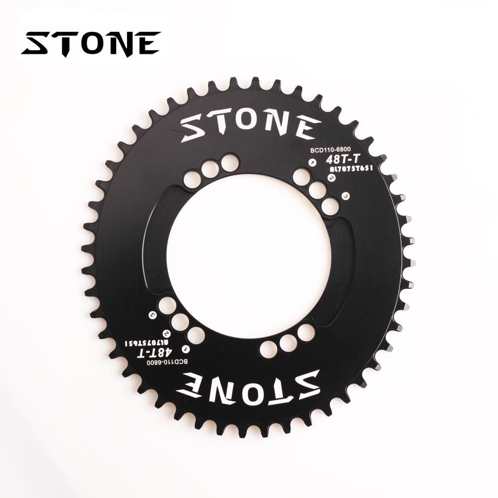 Stone Road Bike Single Oval Chainring BCD 110mm Chain Ring For Folding Bike 105 5800 6800 Ultegra 4700 Tigra 9000 Chainwheel