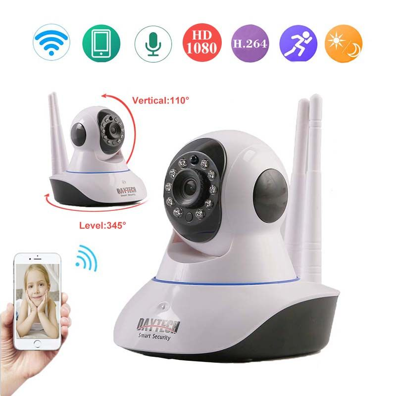 DAYTECH IP Camera Security 1080P CCTV Night Vision Wireless Surveillance Wifi IP Camera Video P2P Intercom Motion Detect Sensor