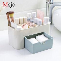 Msjo maquillaje organizador caja collar de la joyería del pendiente plástico maquillaje Home escritorio organizador para cosméticos