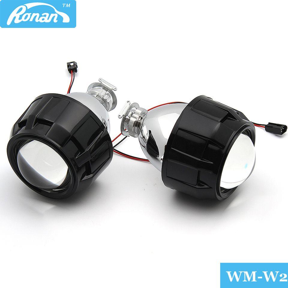RONAN 2.5 Mise À Niveau WST Bi-xénon mini projecteur Lentille adapte H4 H7 phare Utilisation H1 Xénon/Halogène Ampoule Nouveau Car Styling LHD RHD