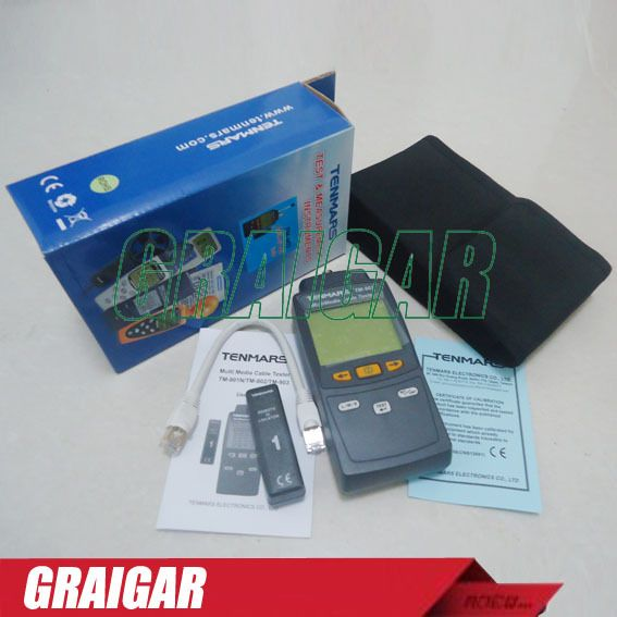 TM-903 Mutimedia LAN cable Tester with Detect Auto backlit network cable meter