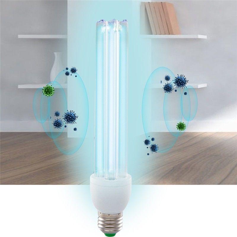 20 w E27 UV Lumière Tube Ampoule Ultraviolet Lampe De Désinfection UVC Stérilisation à L'ozone Acariens Lumières Lampe Germicide