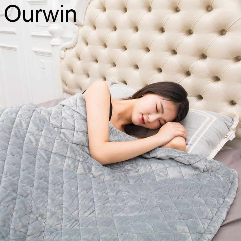 7KG Weighted Blanket Quilt For Adults Promote Deep Sleep Relief Stress and Anxiety Flannel Removable Duvet Cover Gravity Quilt