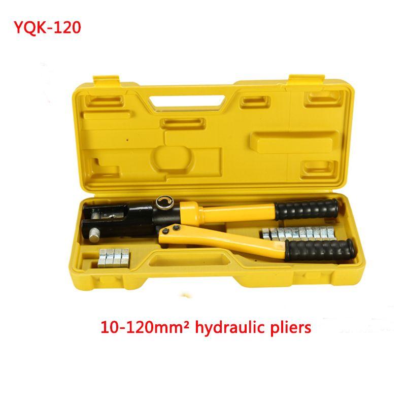 Free shipping by DHL 1pcs 10-120MM crimping range Hydraulic crimping tool YQK-120