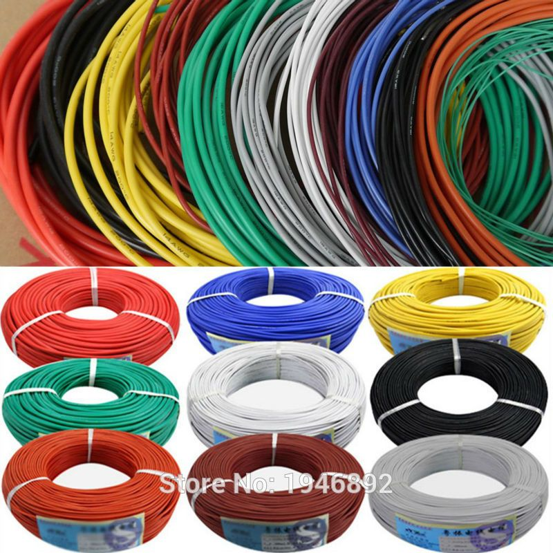 10 Meters/lot 30AWG Flexible Silicone Wire RC Cable 30AWG 11/0.08TS Outer Diameter 1.2mm With 350yee