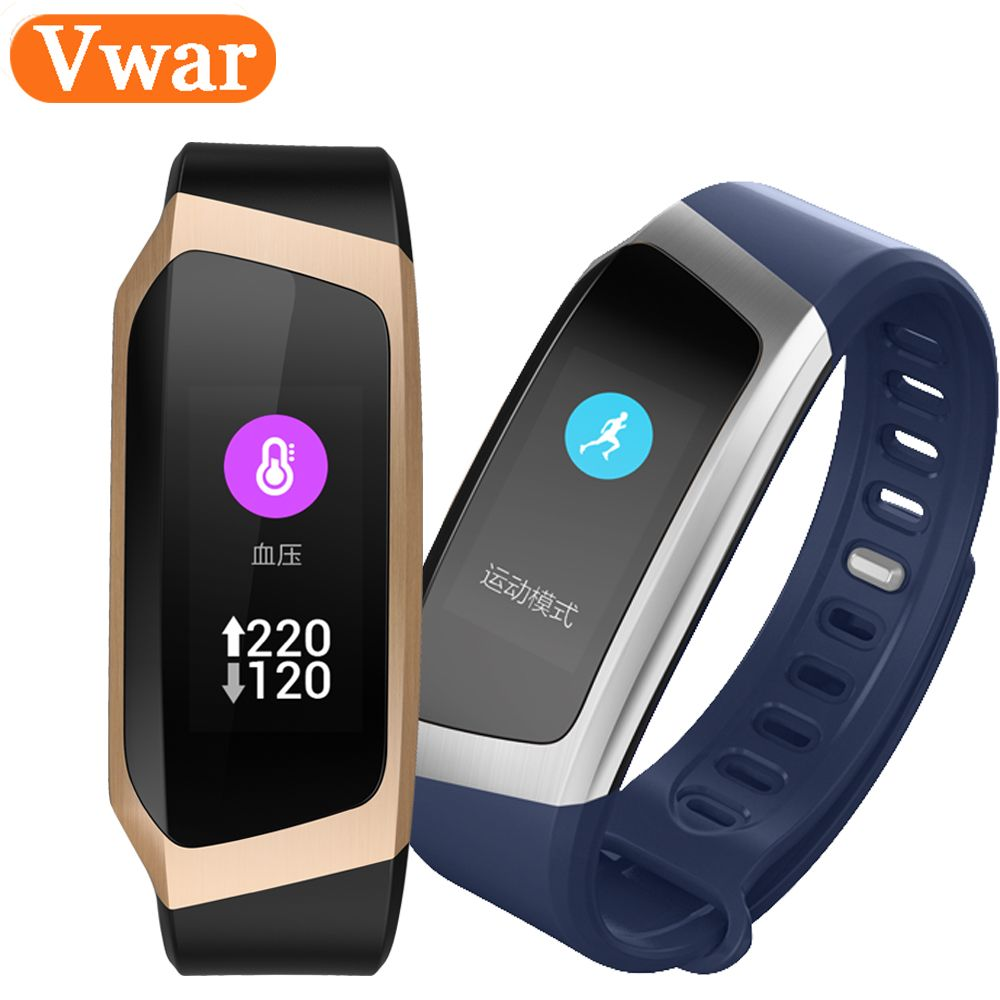 Vwar Smart Band E18 Color Fitness Tracker Blood Pressure Watch Heart Rate Monitor Bracelet VS huawei band honor A2 3 fitbits