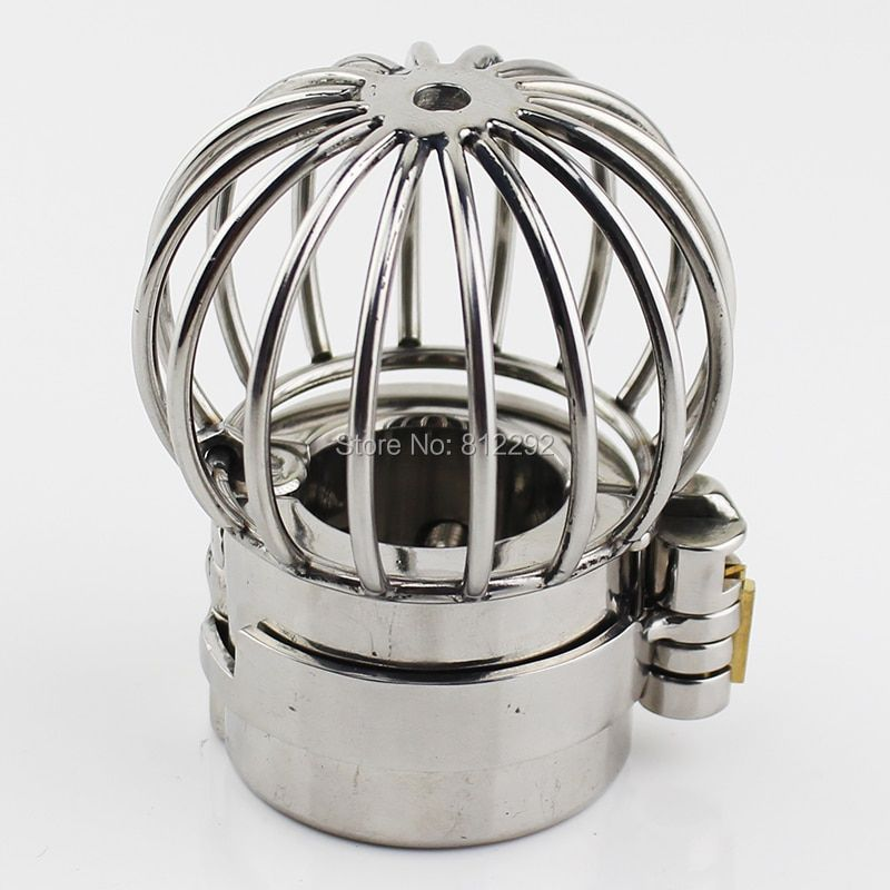 2017 NEW Stealth Lock Design Scrotum Pendant Stainless Steel Ball Stretchers Cock Ring Locking Male Chastity Sex Toys