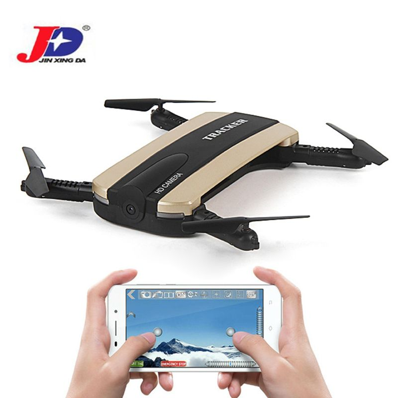 JXD 523 523 Вт Радиоуправляемый Дрон трекер складной мини-Дрон с Wi-Fi FPV-системы HD Камера высота Удержание селфи Quadcopter вертолет открытый Игрушечны...