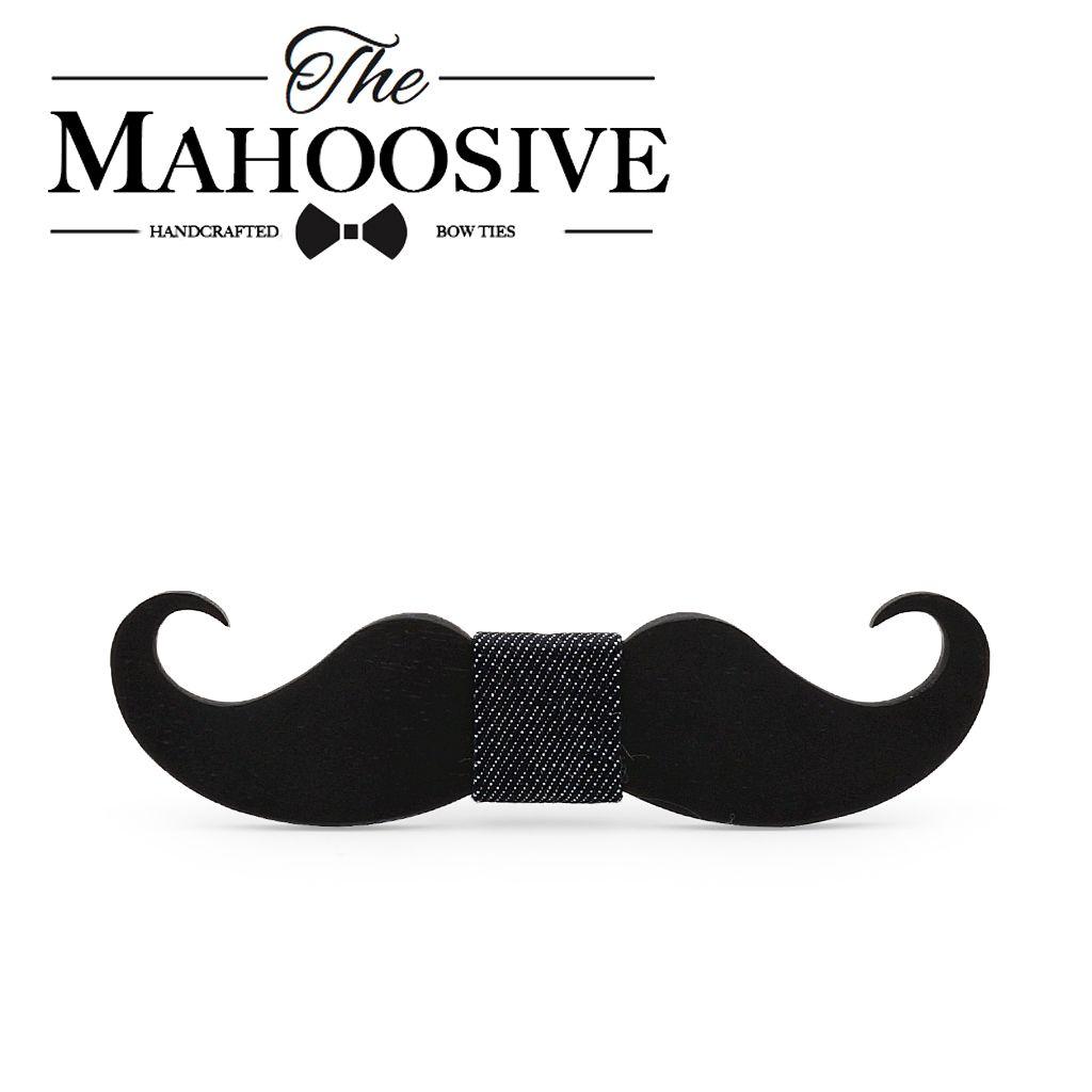 Mahoosive novelty neckties Handmade mustache Wooden bow tie men bowtie mens neck ties factory wholesale free shipping