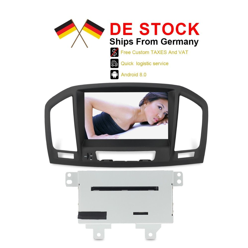 Free Tax Autoradio Android 8.0 For Vauxhall Insignia CD300 CD400 2009 2010 2011 2012 DE Stock Car Stereo 4GB RAM DVD GPS Navi
