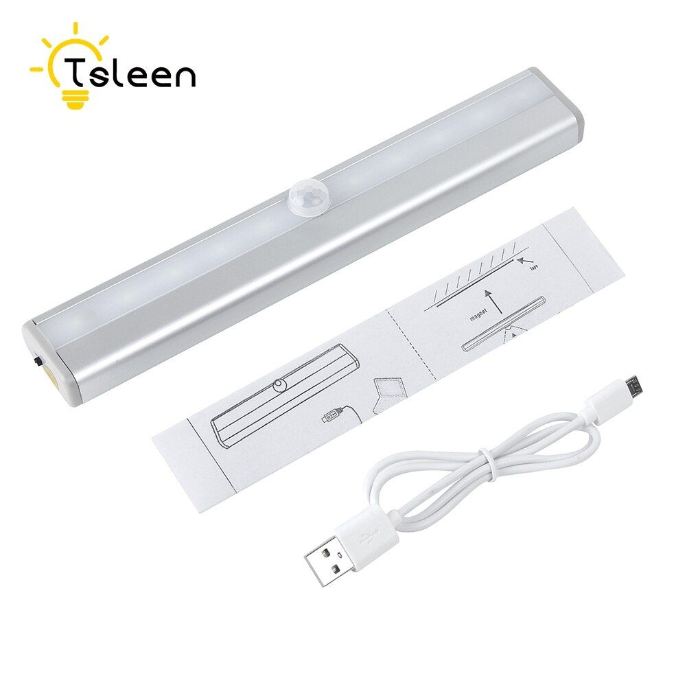 Pas cher 10 LED infrarouge Lampe À Induction Night Lights pour Cabinet Hôtel Placard PIR Auto Motion Sensor Lumière Intelligente Portable