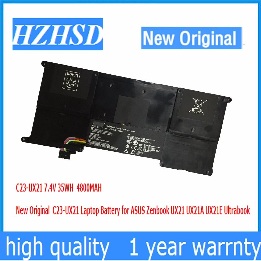 7.4V 35WH 4800MAH New Original C23-UX21 Laptop Battery for ASUS Zenbook UX21 UX21A UX21E Ultrabook