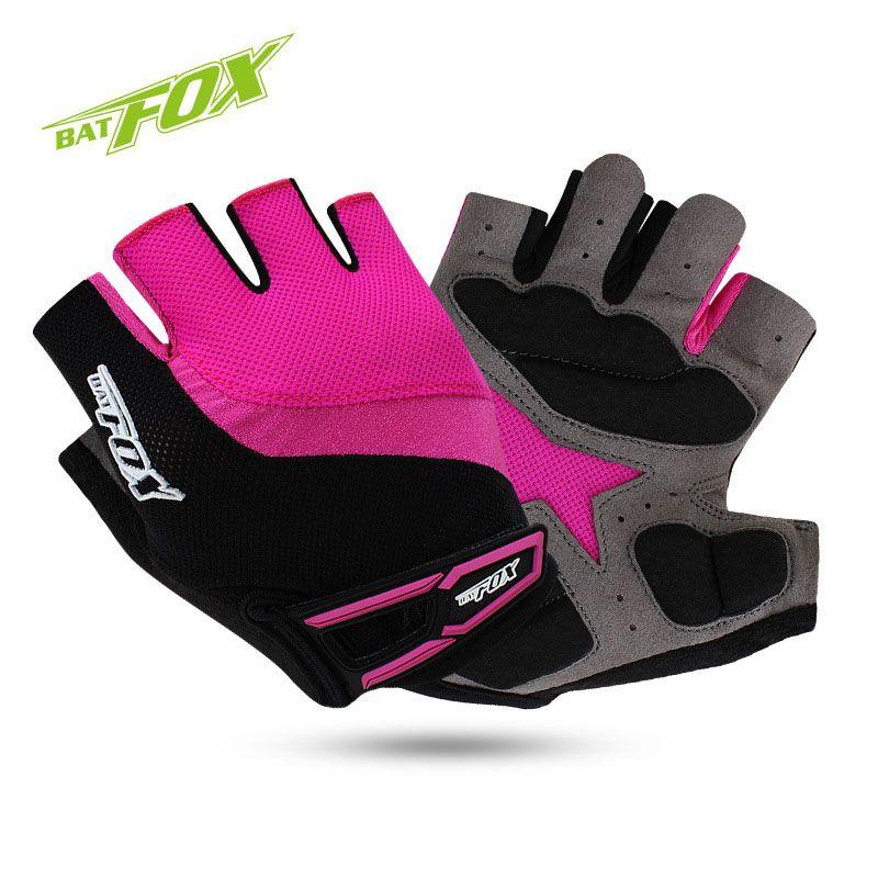 BATFOX Half Finger Radfahren Handschuhe MTB Rennrad Handschuhe Outdoor Sport Atmungsaktiv Rutschfeste Fahrrad Handschuhe Guantes Ciclismo