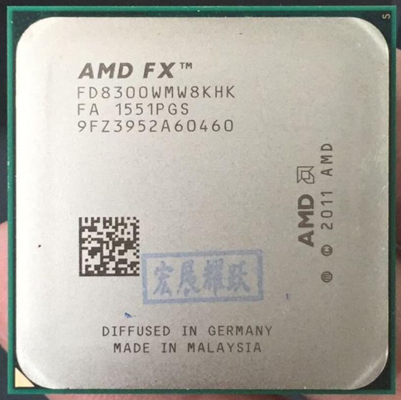 AMD FX-Series FX-8300 AMD FX 8300 Octa Core AM3+ CPU Stronger than FX8300 FX 8300 100% working properly Desktop Processor