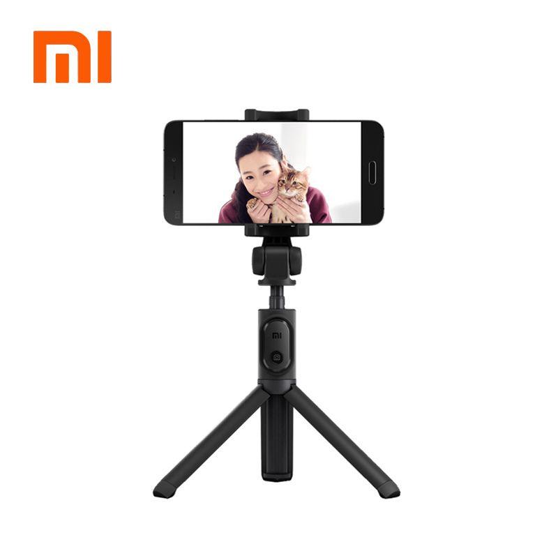 100%Original xiaomi Handheld Mini Tripod 3 in 1 Self-portrait Monopod Phone Selfie Stick Bluetooth Wireless Remote Shutter Black