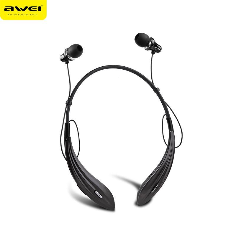 Awei A810BL sport Bluetooth casque écouteur sans fil avec micro Super basse stéréo Auriculares Audifonos Fone de ouvido