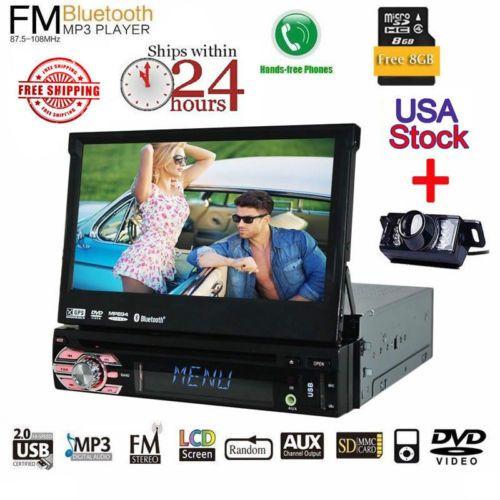 Free Backup Camera GPS Eincar 7 inch Car Autoradio DVD Player Automotive Headunit Support USB SD Aux Multimedia system AM FM Rec