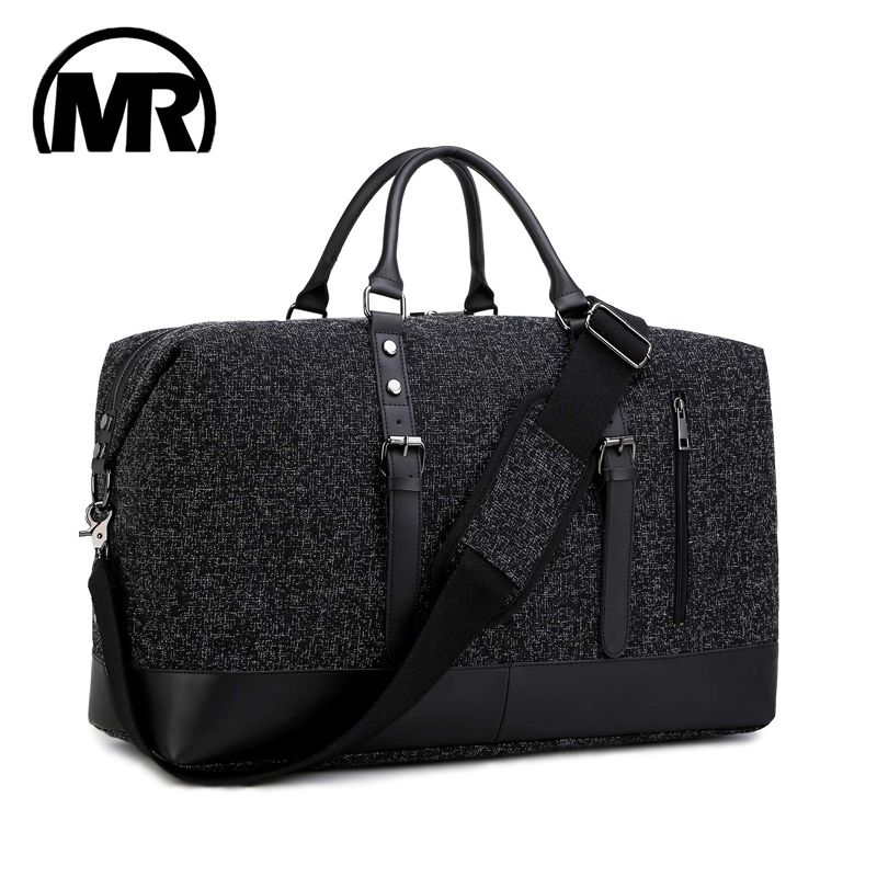 MARKROYAL 2019 Fashion Travel Bag Oxford Unisex Travel Bag Carry On Luggage Duffle Tote Bags Weekender Overnight Black&Gray