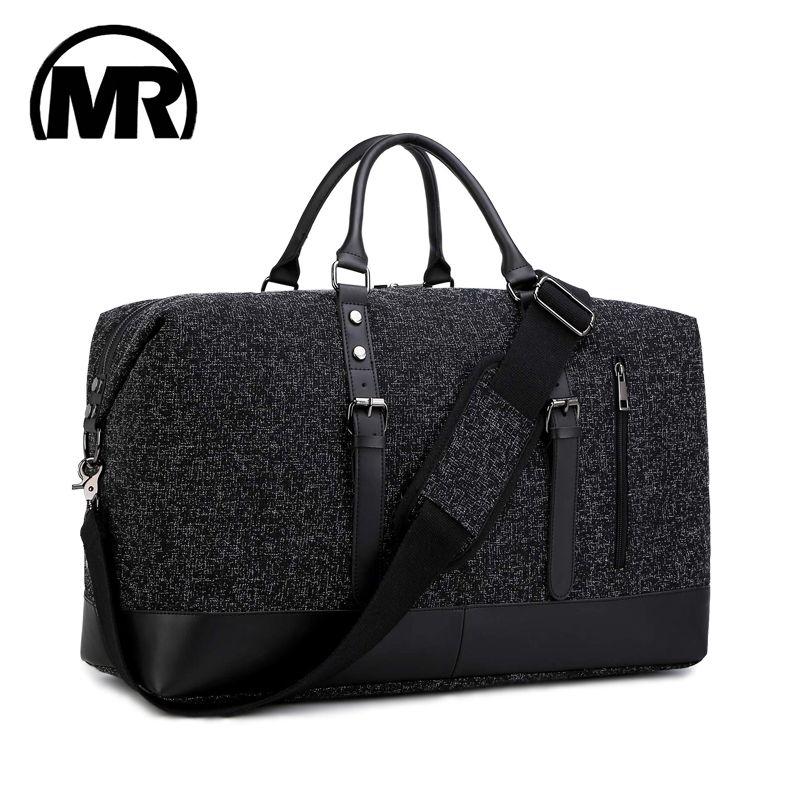 MARKROYAL 2019 sac de voyage mode Oxford unisexe sac de voyage bagage à main sacs fourre-tout Weekender nuit noir & gris