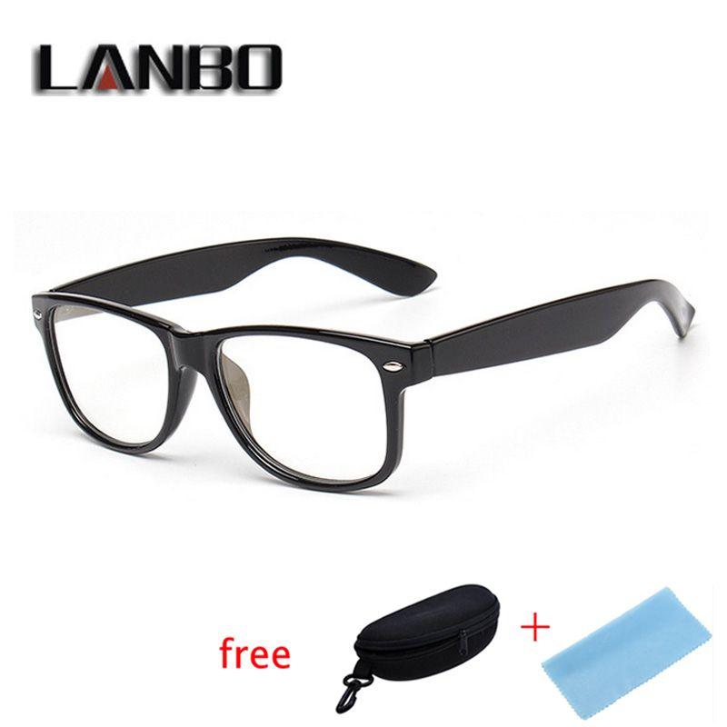 Anti Blau Rays Computer-schutzbrille Lesebrille strahlenresistente Gläser Computer Gaming Gläser Schwarz Mit Fall 8081