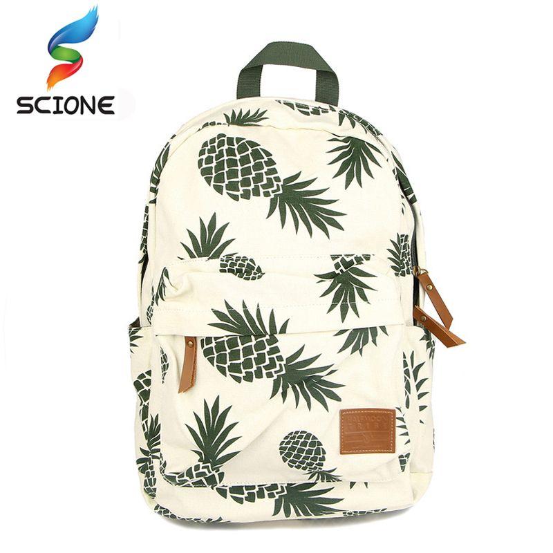 2018 Hot Special Designed Backpack Pineapple Printing School Bags For Teenager Girls Book bags Travel Bag Laptop Rucksack