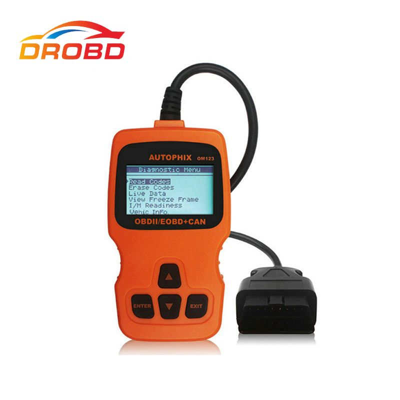 2017 Newest Autophix OBDMATE OM123 OBD2 EOBD CAN Hand-held Engine Analyzer Code Reader Auto Scan Tool Automotive Scanner