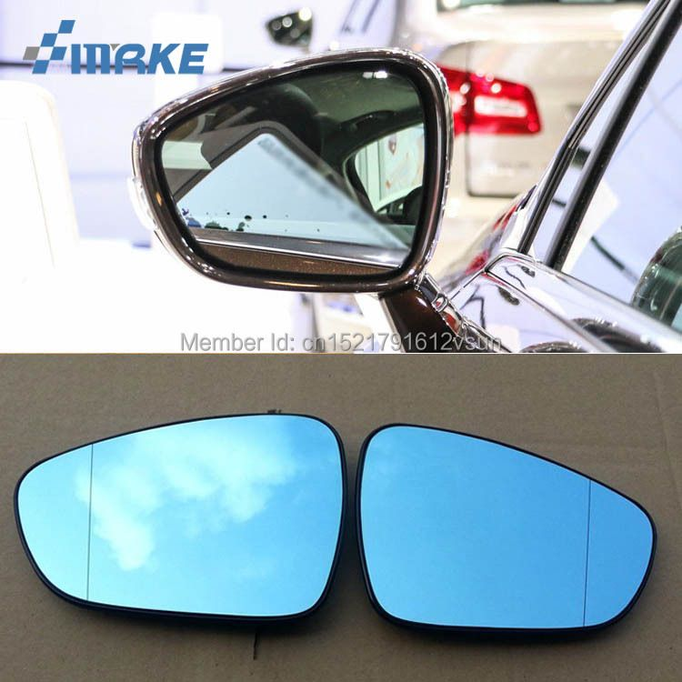 smRKE 2Pcs For Citroen C5 Rearview Mirror Blue Glasses Wide Angle Led Turn Signals light Power Heating