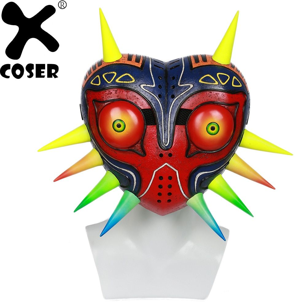 XCOSER The Legend of Zelda Majora Mask Game Cosplay Masks Stylish Painted Party Mask Cosplay Props Accessories For Women Men