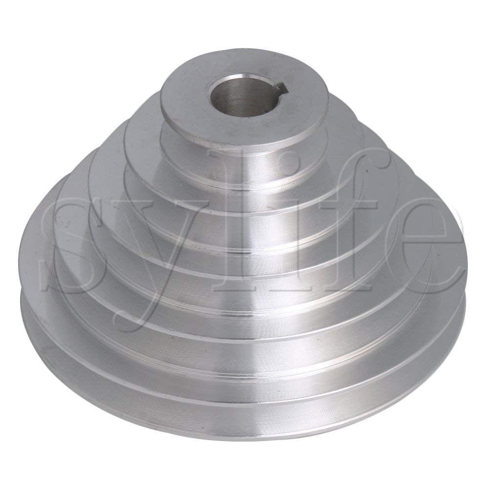 5 Step A Type V-Belt Pagoda Pulley Belt Outter Dia 54-150mm(Hole Dia 14mm,16mm,18mm,19mm,20mm,22mm,24mm,25mm,28mm)