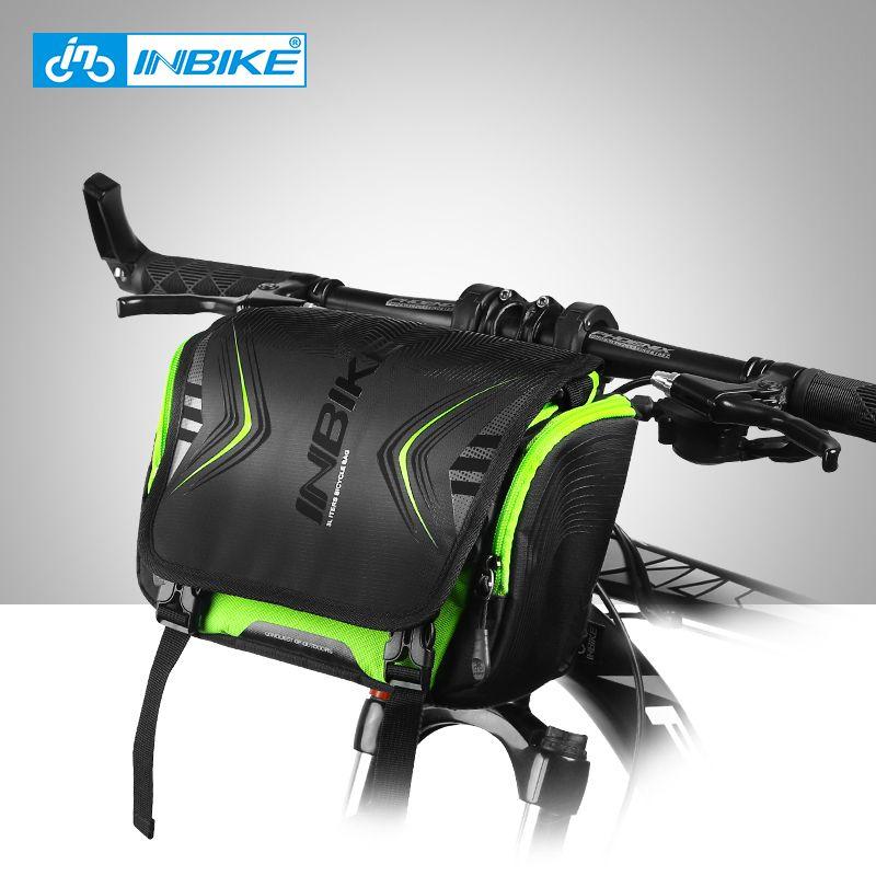 INBIKE Waterproof Bike Bag Large Capacity Handlebar Front Tube Bag Bicycle Pocket Shoulder Backpack Cycling Bike Accessories H-9