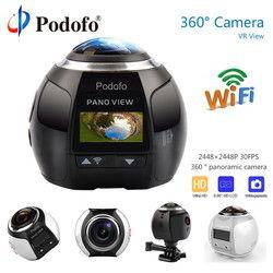 Podofo 360 Kamera HD Ultra Mini Panorama Kamera WIFI 16MP 3D Sport Kamera Fahren VR Action Kamera Video Cam Wasserdicht 30 m