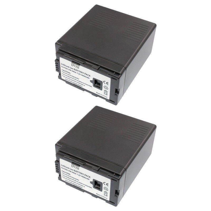 DVISI 2 Pcs/lot 7.2 V 6000 mAh VW-VBG6 VW VBG6 batterie de caméra Rechargeable pour Panasonic AG-HMC154ER HMC154GK AG-HMC154P en gros