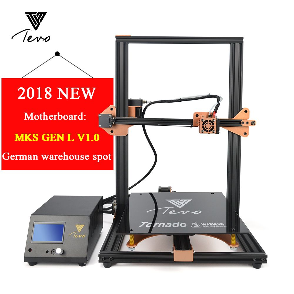 2018 Newest TEVO Tornado 3D Printer Fully Assembled Aluminium Extrusion 3D Printing Machine Impresora 3d Titan Extruder V1.0
