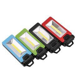4 LED + COB magnética trabajo plegable gancho tienda lámpara linterna linternas Lanterna 2 modos linterna práctico Iluminación uso AAA