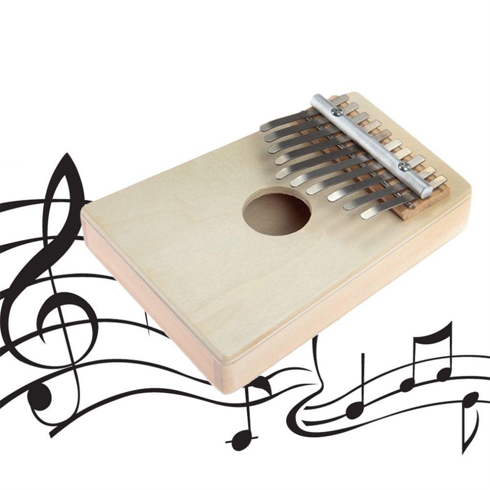 Chaude 10 Touches Kalimba Mbira Likembe Sanza Pouce Piano Pin Lumière Jaune Instrument livraison gratuite